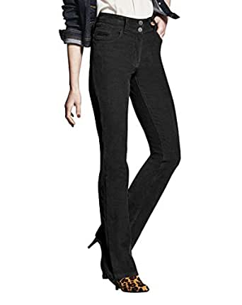 JD Williams Womens Cord Bootcut Jeans Black, 16