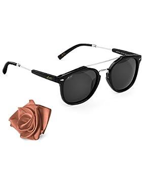Occhiali da sole polarizzati unisex Aiblii Retro UV400 - Occhiali da sole Polarized Wayfarer Vintage per Uomini...
