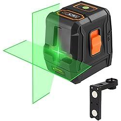 Niveau Laser Croix Vert 30m, Tacklife SC-L07G Classique/Auto-nivellement/Laser Brillant Horizontal et Verticale à 110°/ Verrouillable/Support Magnétique Rectangulaire