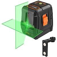 Niveau Laser Vert Tacklife SC-L07G Classique Croix 30m /Laser Vert et Lumineux/Grand Angle de 110°/Verrouillable/Support Magnétique Rectangulair/Trou de Vis 1/4 in