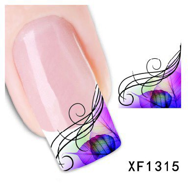 Nagel Sticker Nail Art Nass Abziehbilder - Muster - XF1315 Nail Sticker Tattoo - FashionLife