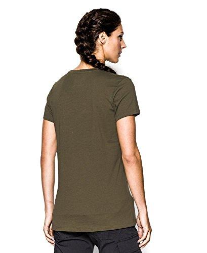Under Armour Ua, la dicono le donne s Tactical-T-Shirt in cotone Multicolore - Marine Od Green/Marine Od Green