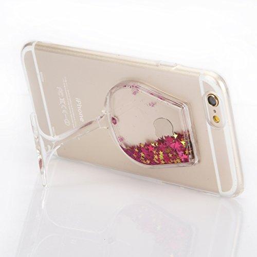 """Housse pour Apple iPhone 6Plus/6sPlus 5.5""""(NON iPhone 6/6s 4.7""""), CLTPY 3D Coloré Scintillement Placage Bordure Case, Ultra Léger Mince Hull de Protection Absorption des Choques pour iPhone 6Plus,iPho Poudre Rose"""