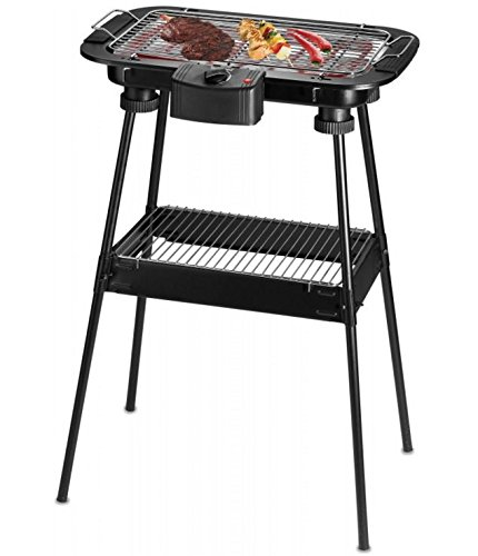 Techwood TBQ-807P Barbecue sur Pieds ou de Table 2000 W