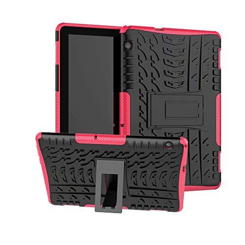 XITODA Huawei MediaPad T5 10 Hülle, Armor Style Hybrid PC + TPU Silikon Schutzhülle für Huawei MediaPad T5 10 Case Cover Tasche,Hot Pink Hot Pink Tpu Case