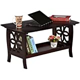 DeckUp Rubberwood Royale Wooden Coffee Table, Standard Size (Wenge)