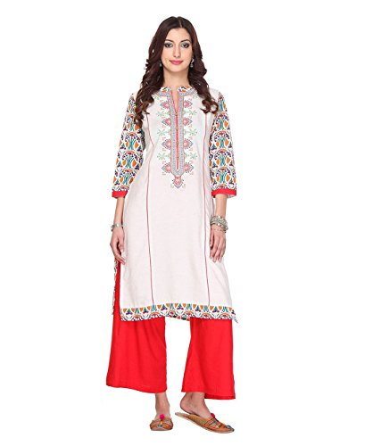 Chigy Whigy Stitched Jute And Cotton Multi Color Combo Of Kurti With...