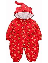 CWLLWC Saco de Dormir para bebé,Otoño e Invierno Bodies bebé Mono Escalada Juego Desgaste