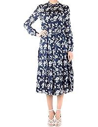 4784ec916c5 Michael Kors Michael Women s MH88YKZAFJ428 Blue Viscose Dress