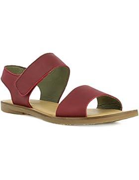 El Naturalista Damenschuhe NF30 Tulip Klassische Damen Sandale, Sandalette mit Klettverschluss