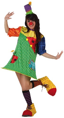Imagen de atosa  disfraz de payaso para mujer, talla m/l 6029