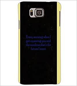 PrintDhaba Quote D-4966 Back Case Cover for SAMSUNG GALAXY ALPHA (Multi-Coloured)