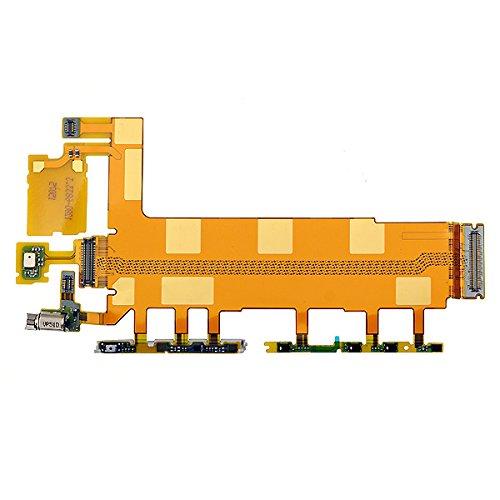BisLinks® Main Motherboard Mic Volumen Macht Taste Flex Ribbon Teil Fix Für Sony Xperia Z3 -