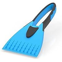 AUPROTEC Eiskratzer - 2K Eisschaber mit integriertem rutschfestem Softgriff - blau