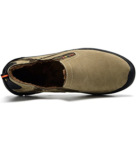 Yiiquan Uomo Addensare Scarpe Sport Scarpe da Ginnastica Sneakers Respirabile Basse Sportive Outdoor Running Cachi