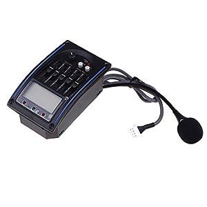 TOOGOO(R)5-Band Equalizzatore della Chitarra Acustica Preamp Piezo Pickup LCD con Mic