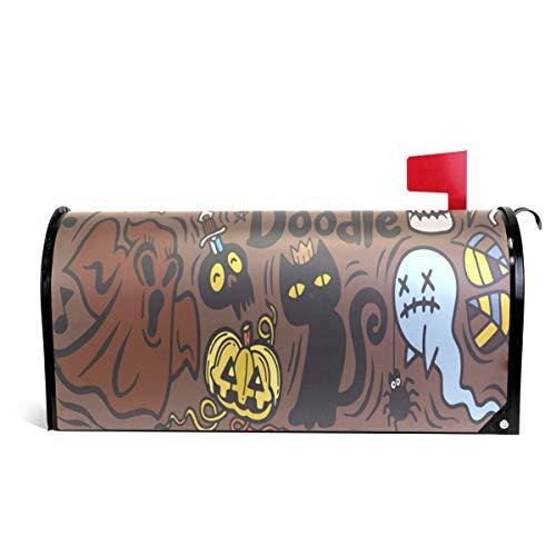 WOOR Halloween mit Vampir, Hexe, Mumie, Wolf, Geist, magnetisch, Standardgröße, 45,7 x 52,1 cm 25.5x20.8 inch Oversized Multi ()