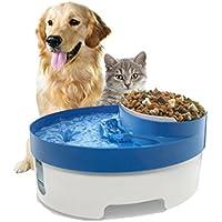LVRXJP Alimentador automático de 4.5L LCD para el Perro del Gato con teledirigido, Plato