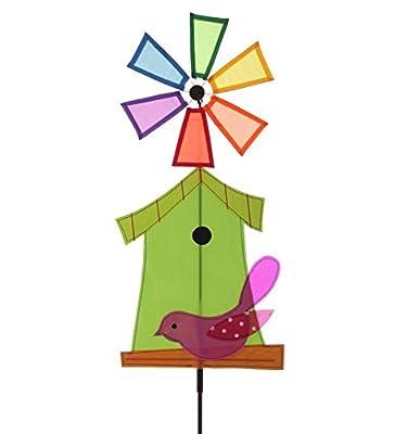 Bird House wind spinner / windmill[Green]