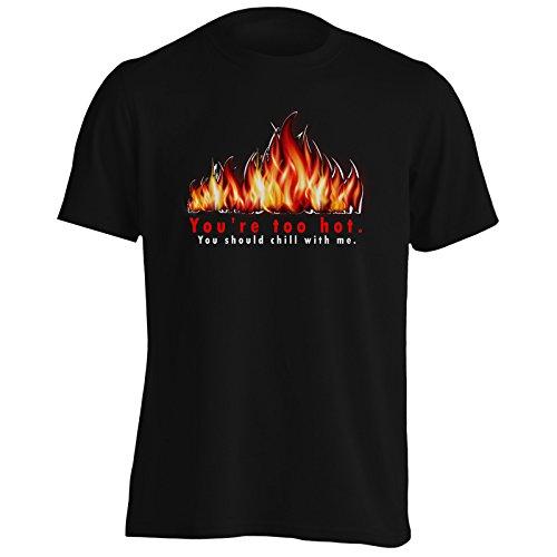Sei troppo caldo Si dovrebbe rilassarsi con me Uomo T-shirt s18m Black