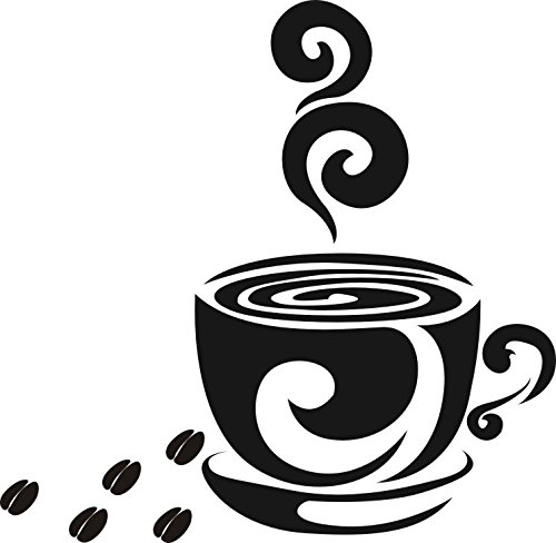 Wandtattoo wandaufkleber Aufkleber Wandsticker wall sticker Wohnzimmer Schlafzimmer Kinderzimmer Kueche Schriftzug CAFE COFFEE KAFFEE 30 Farben...