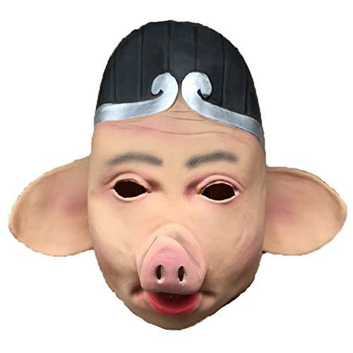 S+S Halloween Lustige Maske Nette Lustige Latex Tier Big Ear Schwein Acht Ringe Kreativen Stil Maske Cosplay Film Kostüm Parodie Party Artikel Zubehör