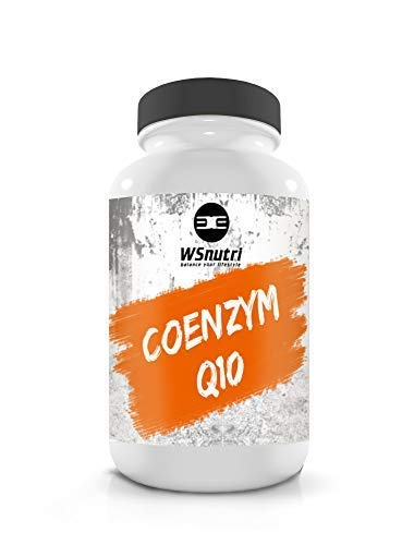 WSnutri Coenzym Q10 I 100 Kapseln I Antioxidantien I essentiell I Unterstützung Herz, Nerven, Immunsystem I Förderung Ausdauer – Energie – Junge Haut