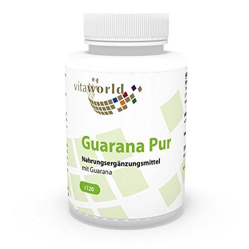Guarana puro 500mg 120 Capsule Vita World farmacia Produzione in Germania