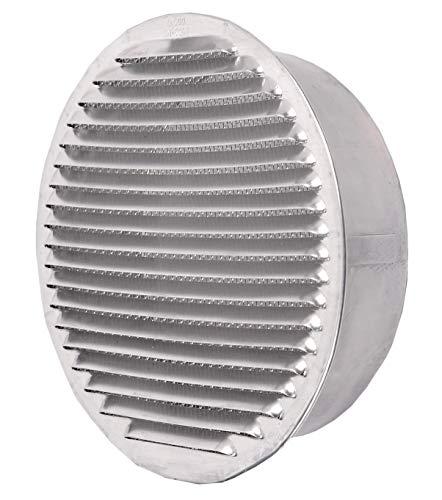 redondo rejilla de ventilaci/ón de alumin Tapa de rejilla de ventilaci/ón de aluminio circular /Ø 120 mm 120 mm rejilla de ventilaci/ón de aluminio circular diametro de 12 cm 120 mm Rejilla de aluminio circular /Ø 12 cm