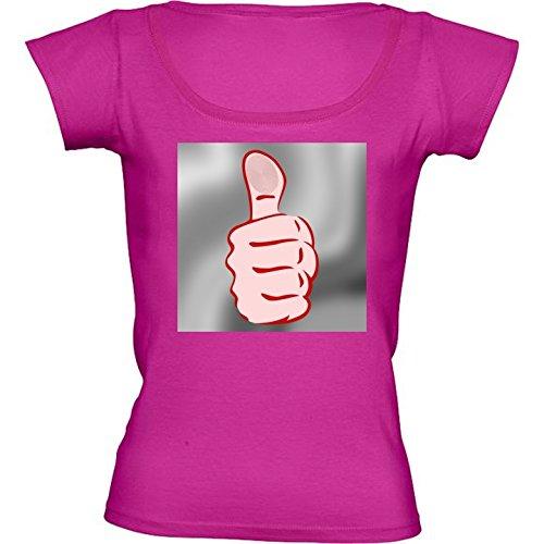 camiseta-rosa-fuschia-con-cuello-redondo-para-mujeres-tamano-l-pulgar-arriba-by-hera56