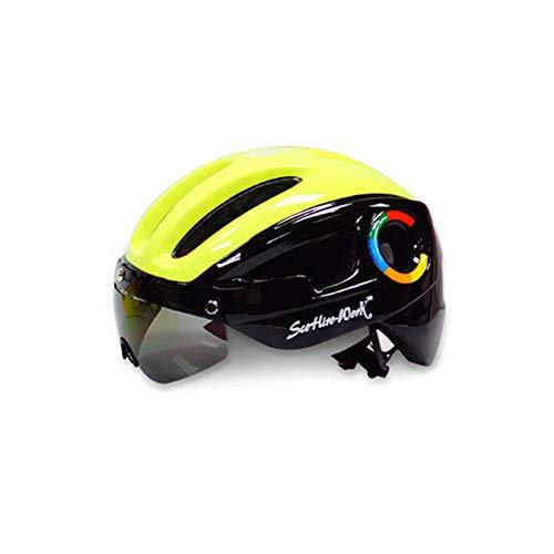 Cathy02Marshall Mountainbike-Helm mit Brille Fahrradhelm Helm,Sporthelm,Fahrrad Helm Brille Mountainbike Einteilig Reiten Helm Rennrad Objektiv Schutzhelm im Freien Helm