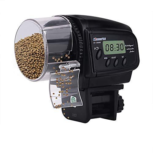 HomdMarket Digital automatischer Fischfutterautomat Fisch/Turtle Feeder für Aquarium & Fisch Tank Urlaub & Wochenende Fischfutterspender Batterien Enthalten