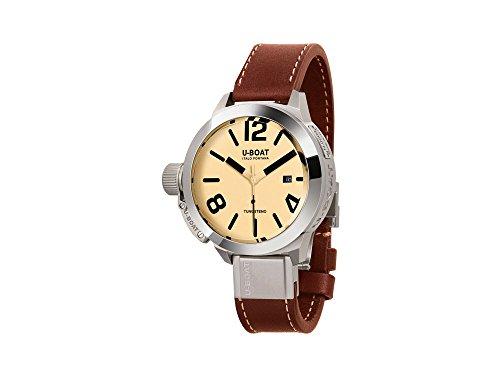 Reloj Automático U-Boat Classico, Acero Inoxidable 316L, Beige, 50mm, 8091