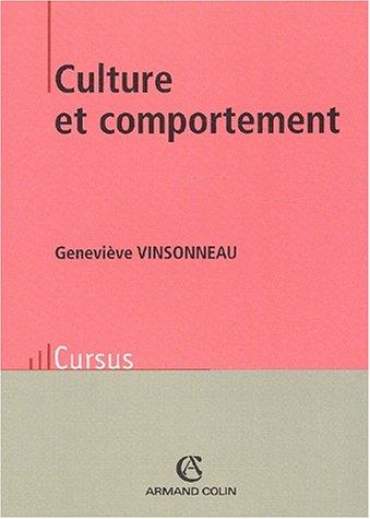 Culture et comportement par Geneviève Vinsonneau