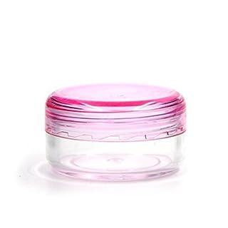 Aquiver Tiny Vial Empty Portable Plastic Bottle Sample Pot Jars Mini Small , 5 Pack (5g)