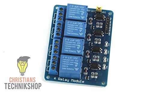 4-Kanal 5V Relais/Relay Modul mit Optokoppler | 10A - 250VAC