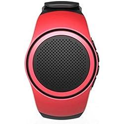 qiyanwatch Haut-Parleur Bluetooth Carte Audio Extérieur Portable Courir Cyclisme Selfie Basse Cannon Rouge
