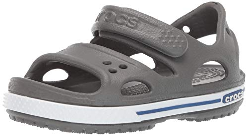Crocs Unisex Kids' Crocband Ii Sandal Ps K Open Toe (Slate Grey/Blue Jean 0db), 2 UK 33/34 EU