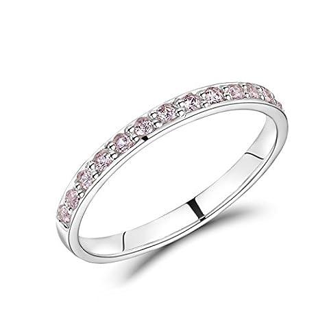 Jo for Girls Kinder-Anhänger Sterling-Silber 925 Eternity Ring mit 15 Zirkonia Steine, Größe E