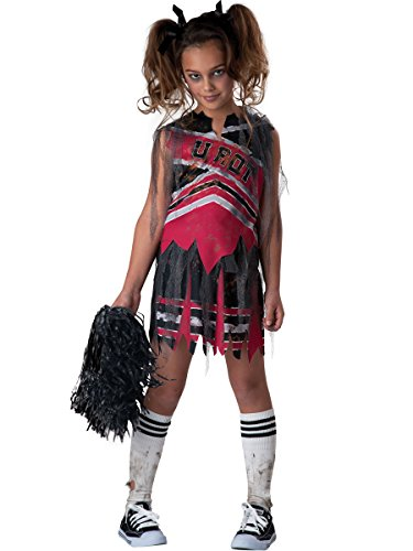 Cheerleader Kostüme Kind Zombie (Zombie Cheerleader Kostüm für)