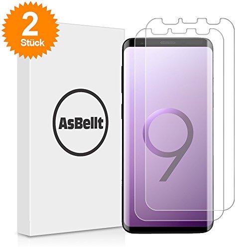 AsBellt Galaxy S9 Plus Schutzfolie(2 Stück), (Blasenfreie anzubringen)(TPU Schutzfolie, Nicht Glasfolie) HD-Klar (Nicht S9 Schutzfolie) für Samsung Galaxy S9+/Plus Schutzfolie