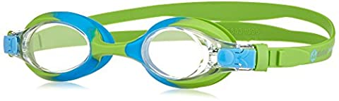 »Picco« Kinder-Schwimmbrille, 100% UV-Schutz + Antibeschlag. Starkes Silikonband + stabile Box. TOP-MARKEN-QUALITÄT! AF-700, grün/blau