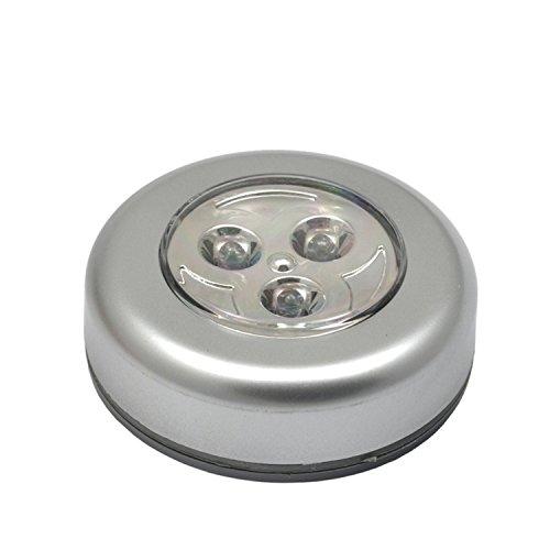 Maclean MCE01 - Lámpara LED de tacto, Alimentada por baterías, adhesiva, para habitaciones, de almacenamiento