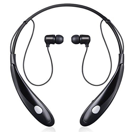 SENDIS Cuffie Bluetooth 4.1 Cuffia Stereo Headset Sweatproof Sport In-Ear con Microfono per Apple iPhone, Samsung,e gli altri Smartphones (Nero) Nero