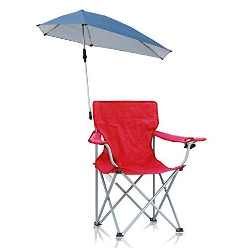 Folding chair Silla de Playa Plegable para Ocio, Asiento de jardín, Silla de Camping de Metal, Silla de Pesca Multiusos para Interiores, diseño de toldo Desmontable