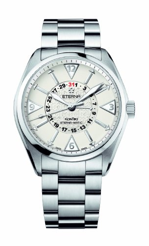 Eterna Men's 1592.41.11.0217 Kontiki Stainless Steel Four-Hands Watch