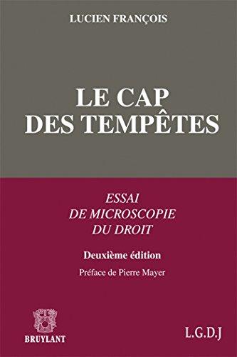 Le cap des Tempêtes: Essai de microscopie du droit