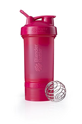 BlenderBottle ProStak Full Color Botella de Agua y Accesorios, Unisex Adulto, Fashion Pink, 650 ml