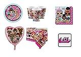 Party Store web by casa dolce casa LOL Surprise UNS coordonné décorations fête-Kit N ° 26CDC- (8Assiettes, 8gobelets, 16Serviettes, 1Nappe, 1Ballon Foil, 1Aimant)