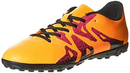 adidas Herren X 15.4 TF Fußballschuhe, Bunt Orange / Schwarz / Pink (Dorsol / Negbas / Rosimp)